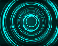 Neon circles abstract background Stock Photo