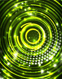 Neon circles abstract background Royalty Free Stock Photos