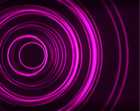 Neon circles abstract background Stock Photography