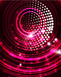 Neon circles abstract background Royalty Free Stock Photo