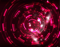 Neon circles abstract background Stock Images