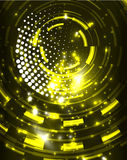 Neon circles abstract background. Neon yellow circles vector abstract pattern background Royalty Free Stock Photography