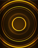 Neon circles abstract background. Neon yellow circles vector abstract pattern background Royalty Free Stock Photos