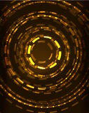 Neon circles abstract background Stock Image