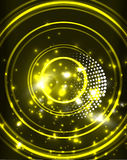 Neon circles abstract background. Neon yellow circles vector abstract pattern background Royalty Free Illustration