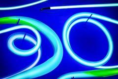 Neon circles Stock Photography