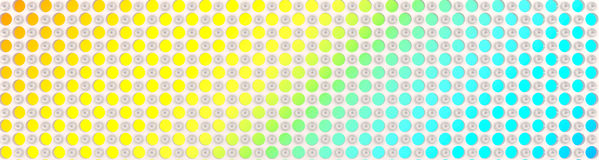 Neon circles on a white background Royalty Free Stock Photo