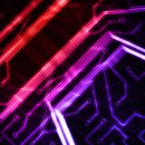 Neon circuit board. Royalty Free Stock Images