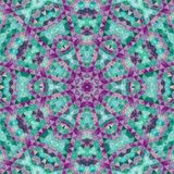 Neon circular triangle pattern in teal and pink stock images