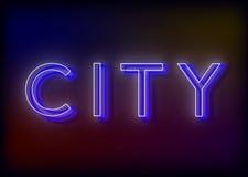 Neon-Citi Citi-Leuchtreklame Lizenzfreie Stockbilder