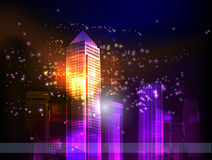 Neon city background Stock Photography