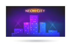 Neon city Stock Photography