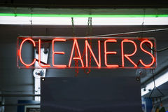 Neon Cleaners Royalty Free Stock Images