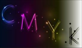Neon CMYK model Royalty Free Stock Photo