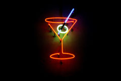 Neon cocktail Royalty Free Stock Images