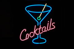 Neon Cocktails Royalty Free Stock Images