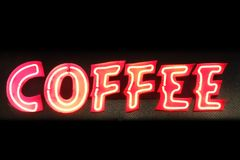 Neon coffee Royalty Free Stock Images