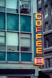 Neon Coffee Shop Bar Royalty Free Stock Images