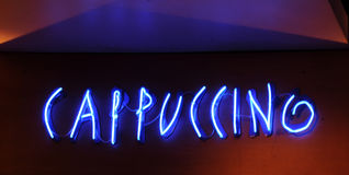 Neon coffee sign Stock Images