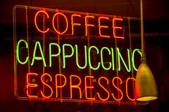 Neon coffee sign Stock Photography