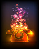 Neon collection, Love phone, valentine's concept Stock Images