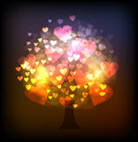 Neon collection,  Love tree background Stock Photos