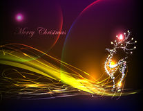 Neon collection, reindeer Christmas background Royalty Free Stock Photo