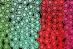 Neon color pens Stock Photos