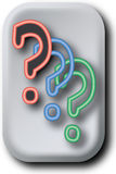 Neon Color Question Marks Royalty Free Stock Photography