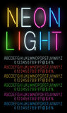 Neon colored fonts Stock Images