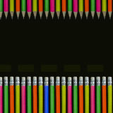 Neon colored pencils Stock Image