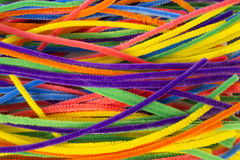 Neon colored pipe cleaners. This is a photograph of Neon colored pipe cleaners Stock Images