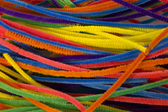 Neon colored pipe cleaners. This is a photograph of Neon colored pipe cleaners Royalty Free Stock Photos