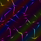 Neon colorful laser bended crossed lines, multicolor background Royalty Free Stock Image
