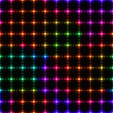 Neon colorful LED wall from dots - seamless background Royalty Free Stock Photography