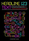 Neon Colors Template Design Stock Images