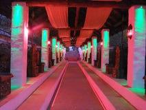 Neon corridor royalty free stock image