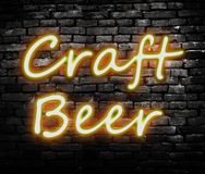 Neon Craft Beer sign Stock Photography