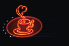 Neon with cup Royalty Free Stock Photo