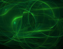 Neon curves. Fractal rendering of neon green curves Royalty Free Stock Photography