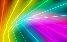 Neon curves Royalty Free Stock Photography