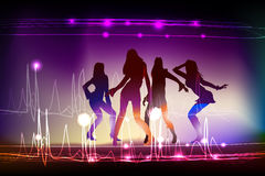 Neon dancing girls Neon collection Royalty Free Stock Photo