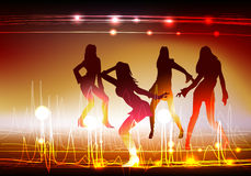 Neon dancing girls Neon collection Royalty Free Stock Image