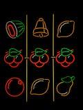 Neon della macchina di posta Fotografie Stock