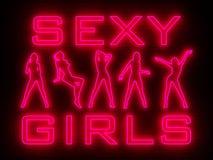Neon della parete della barra della striscia royalty illustrazione gratis