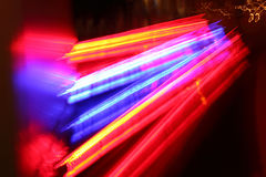 Neon an der Straße. Stockfotografie