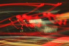 Neon an der Straße. Stockfotos
