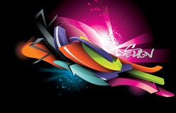 Neon  design illustration Royalty Free Stock Image