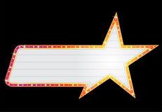 Neon di figura della stella Immagine Stock Libera da Diritti