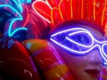 Neon di Mardis Gras Fotografie Stock
